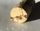 5mm Jonquil AB Swarovski Crystal Studs  1 Pair Surgical Steel Posts, Tiny Studs, Kids Earrings