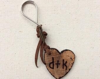 Custom wood Keychain, wooden gift,men's keychain, gift for men, wood burned, anniversary gift