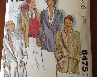 Vintage 1979 McCall's Womens Blazer Pattern,Size 8 Blazer Pattern