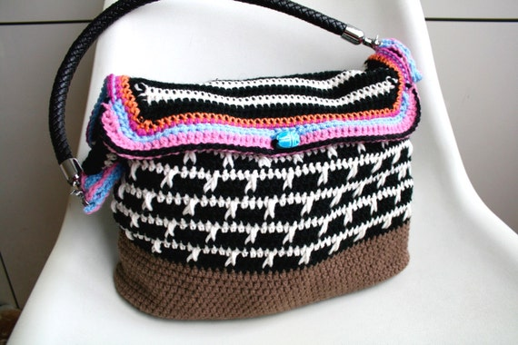 Crochet Boho Bag : pattern, crochet boho bag pattern, purse pattern, granny crochet bag ...