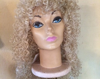 Female Blonde or Platinum  Long Curly Wig