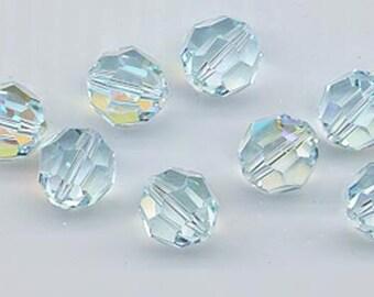 Twelve Swarovski crystals - Art. 5000 - 10 mm - light azore AB
