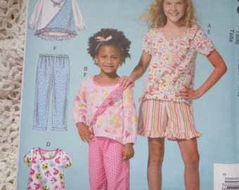 McCALLS M7278/MP477 3-6 Children's/Girls' Ruffled Tops, Dress, Shorts,Pants Pullover,Tops ,Dress Uncut Factory Folded