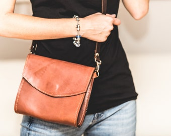 Leather Cross Body Bag, Brown Leather Satchel, Brown Leather Crossbody Bag, Brown Leather Bag, Genuine Leather Crossbody