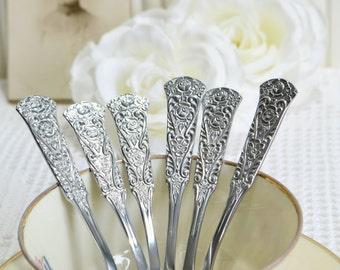 Demitasse coffee spoons , vintage chrome plate cutlery, tea spoons , adfternoon tea utensils, flatware