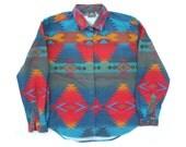 Vintage Woolrich Navajo Shirt Sz L
