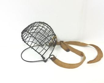 Antique horse muzzle, antique mule muzzle, wire muzzle