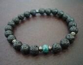 Men's Emerald Mala Bracelet - May Birthstone Mala Bracelet - Yoga, Buddhist, Meditation, Jewelry