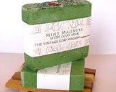 Mint Madness Goat Milk Soap - made with all Essential Oils