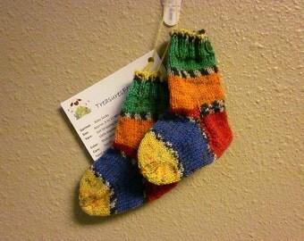 Hand Knitted Baby/Toddler Merino Wool Socks