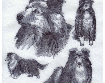 Custom Embroidered Sheltie / Shetland Sheepdog Sweatshirt S-3XL
