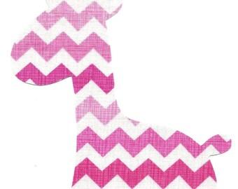 Giraffe iron on fabric applique DIY - baby girl