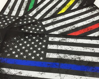 Thin Line Support American Flag by Creepy Goat Graphics