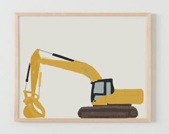 Fine Art Print.  Excavator.  December 12, 2014.