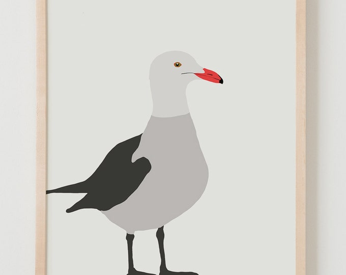 Fine Art Print. Heerman's Gull, January 12, 2015.