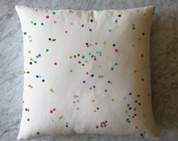 Pillow with Confetti Dots. April 14, 2016