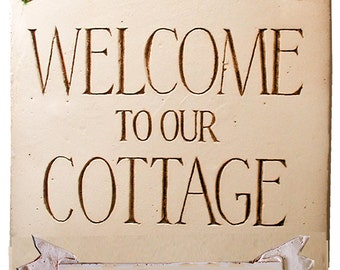 Welcome Cottage Personalized Sign