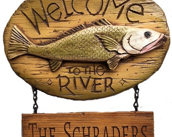 Welcome to the River Personalized Sign