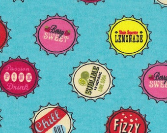 Snuggle Flannel Prints - Bottle Caps - 1 yard