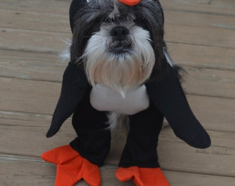 Adorable Penguin Dog Costume for small breed dogs