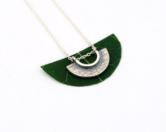 Crescent necklace sterling silver half moon jewelry