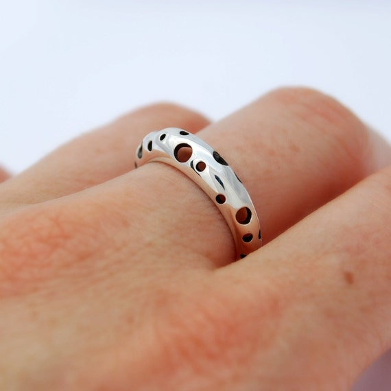 Maan zoals Ring - Sterling silver ring minimalistische ring