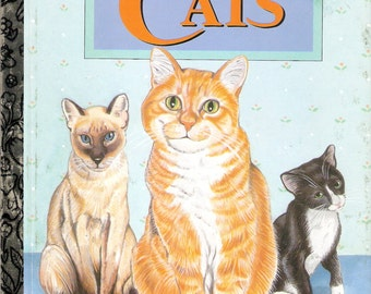 CATS Vintage Little Golden Book by Laura French Illustrated by Patti Gay 1995