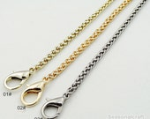 1Piece High Quality 4mm wide Gold, Silver Purse Chain, 6 kinds Length  for choice, handles Bag Chain including Lobster clasp  (T305)
