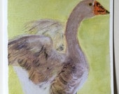 Papa Goose Greeting Card/FREE SHIPPING