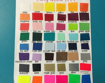 Siser easy weed Heat transfer vinyl 15x12 sheet solid color.