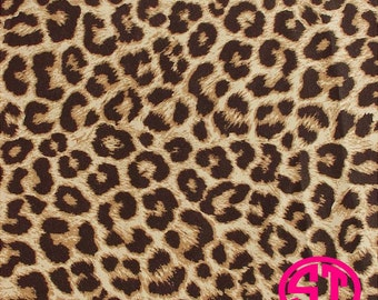 Leopard Print printed Vinyl or HTV to use in vinyl cutter.. You choose size 6x6, 8.5x11, 12x12, 12x24 or 12x36
