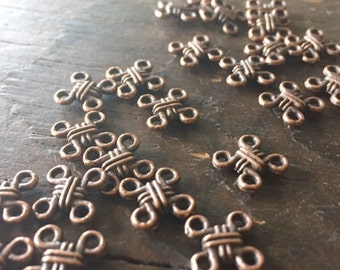 Dublin Romantic Little Celtic Knot Copper Connector Links (10) - Irish Style - Dubliners