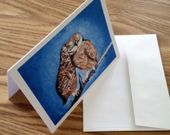 "5""x7"" Lovebird Owls Greeting Card(Blank Inside) Great for any occasion!"