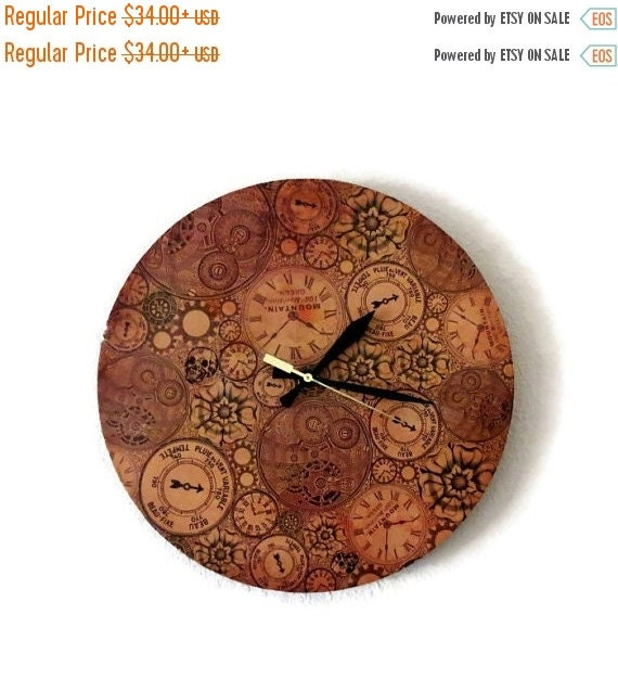 Sale Steampunk Clock Unique Wall Clock Silent Wall