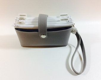 Cash Budget Clutch - Gray