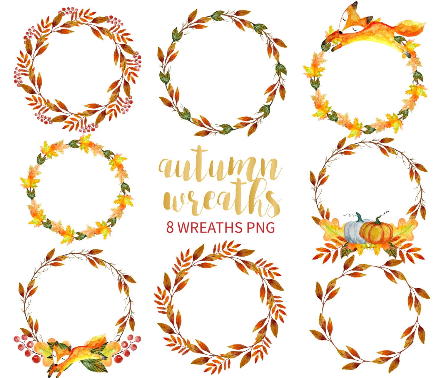 autumn wreath clipart  watercolor wreath clipart  hand greek clip art illustrations greek clipart