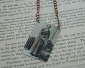 Harriet Tubman necklace Underground Railroad mixed media jewelry