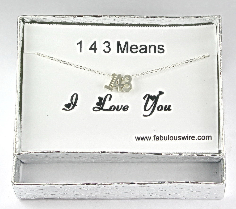143 I Love You Necklace