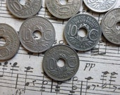 10 French 10 Centimes Antique coins.  Ideal For Jewelry and Crafts