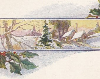 "Ca. 1919 ""Winter Snow Scene"" Christmas Greetings Postcard - 533"