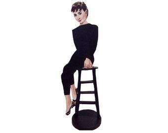 Audrey Hepburn Hand Painted 2D ArtFigurine