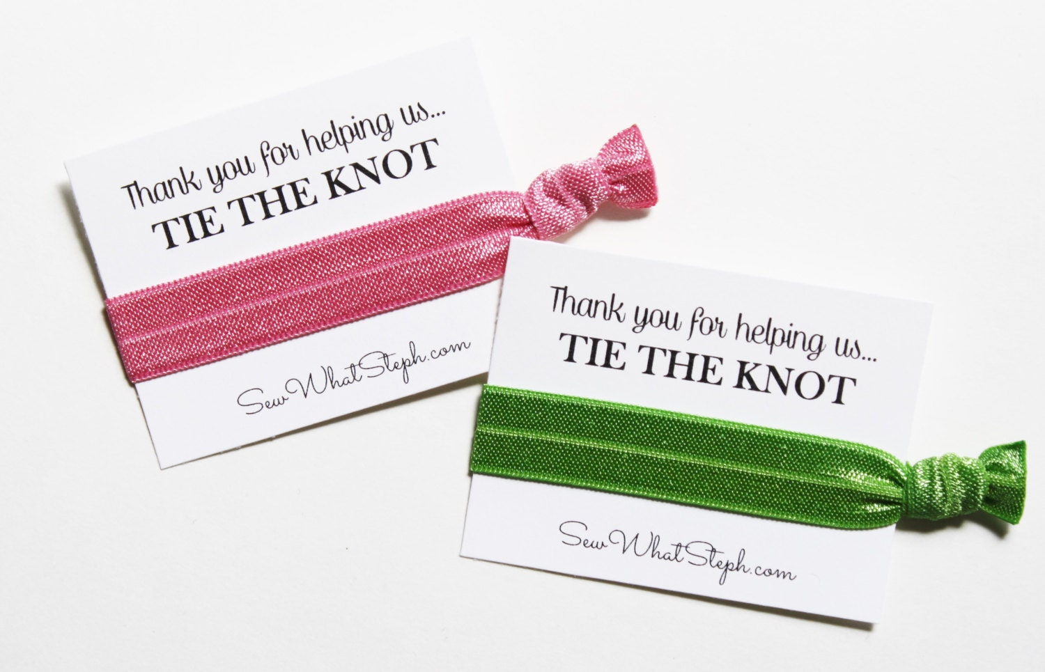 Thank You for Helping Us Tie the Knot Elastic Hair Ties / Single ...