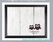 Wood guestbook owls rustic guestbook custom size color up 300 guest