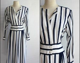 Nautical Vintage Dress , medium