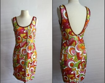 Pucci Inspired , 1980s silk dress