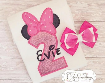 Mouse Shirt, Pink Mouse shirt, mouse birthday shirt, mouse bow shirt, first birthday shirt, pink mouse birthday, mouse ears shirt UD