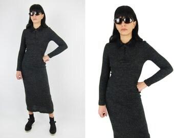 90s MAICK HAROLD Paris Ribbed Dress