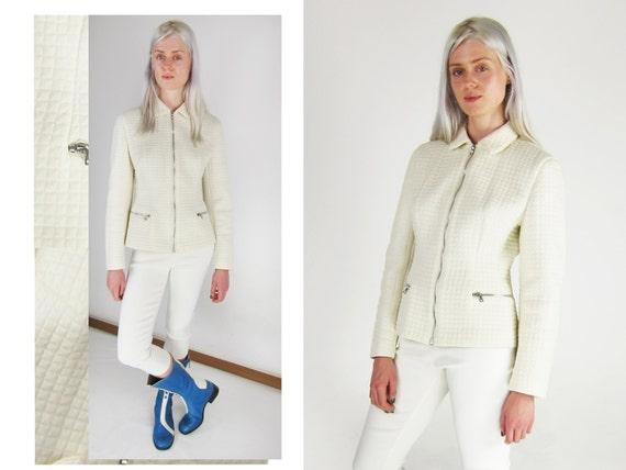 PRADA White Quilted Jacket