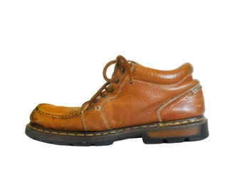 Vintage Doc Marten Boot Men Ankle Boot Men Doc Martens 90s Dr Martens Brown Ankle Boot Doc Martins Dr Martins 90s Grunge Boot Men Chukka