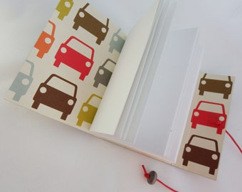Car Journal  Notebook, Hand Bound Leather Journal, Bucket List, Gratitude Journal, artist Sketchbook SALE